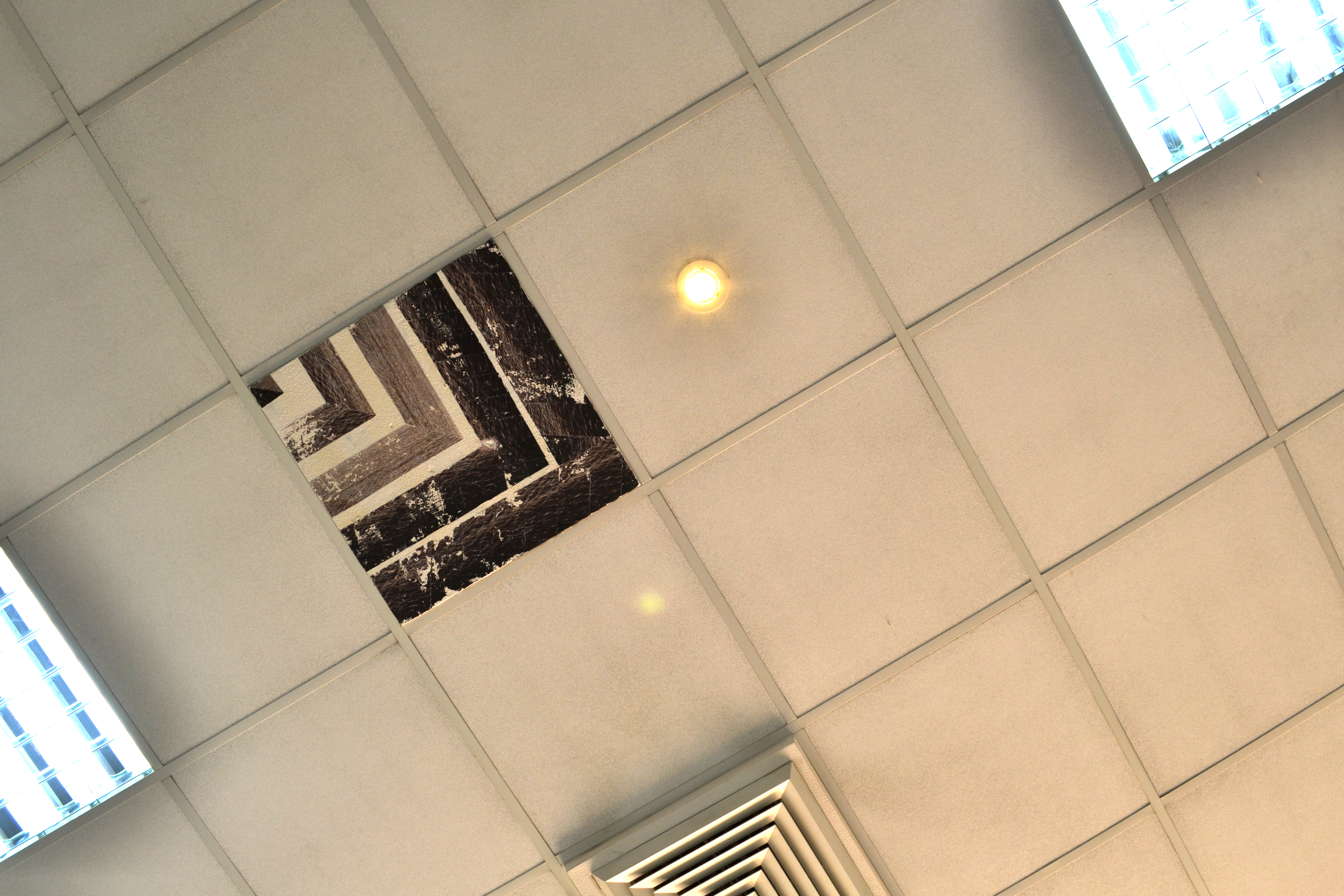 Fire rated ceiling tile